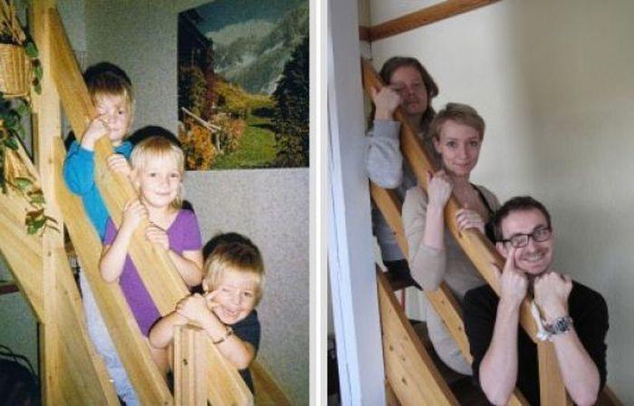 Прикольное сравнение, тогда и сейчас (30 фото)