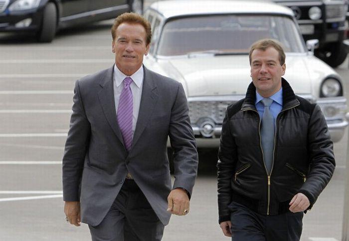 Дмитрий Медведев и Арнольд Шварценеггер (14 фото)