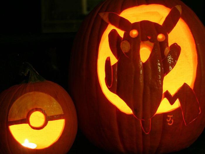 Тыква-покемон на Хэллоуин