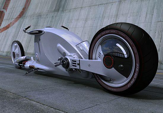 Snake Road: футуристичный концепт мотоцикла (6 фото)