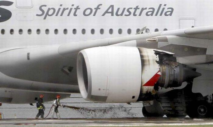 Аварийная посадка аэробуса А380 (8 фото)