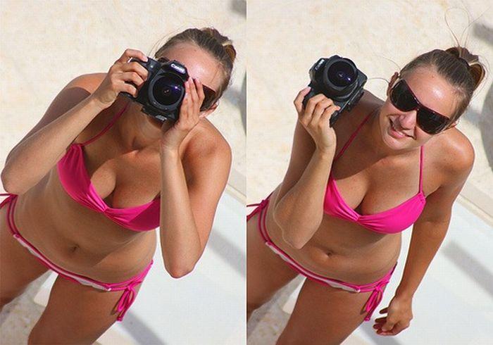 Эротическое фото с фотоаппарата блестящая