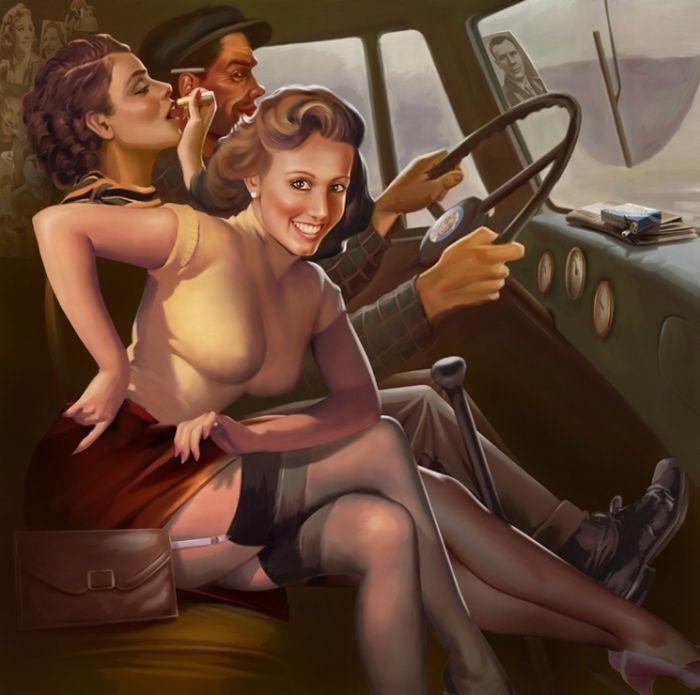Сексуальные рисунки старых времён