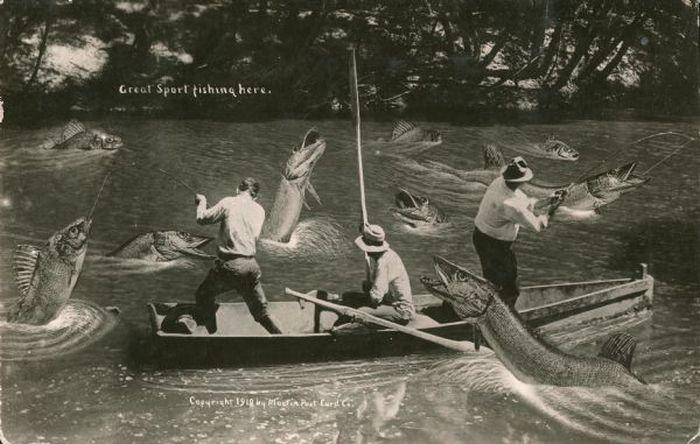 рыбалка в прошлом веке