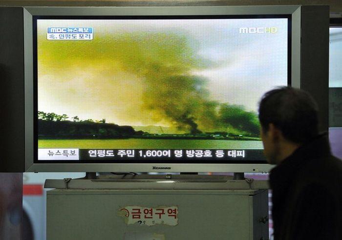 Северная Корея обстреляла южнокорейский остров Енпхендо