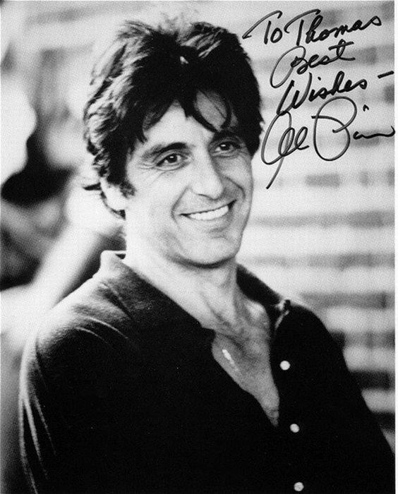 Автографов самых знаменитых актеров
