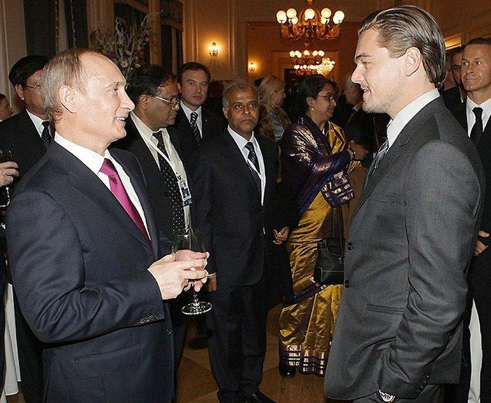 Леонардо Ди Каприо и Наоми Кэмпбел в Петербурге (11 фото + текст)