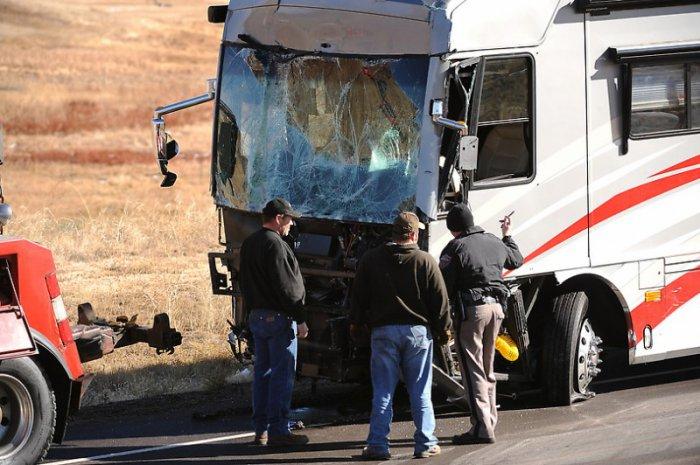 В штате Колорадо на шоссе I-25 столкнулись 34 машины