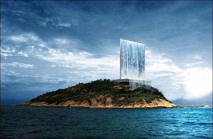 Концепт необычного водопада (6 фото)