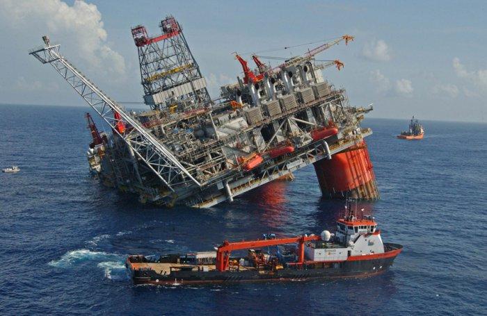Нефтяные платформы (14 фото)