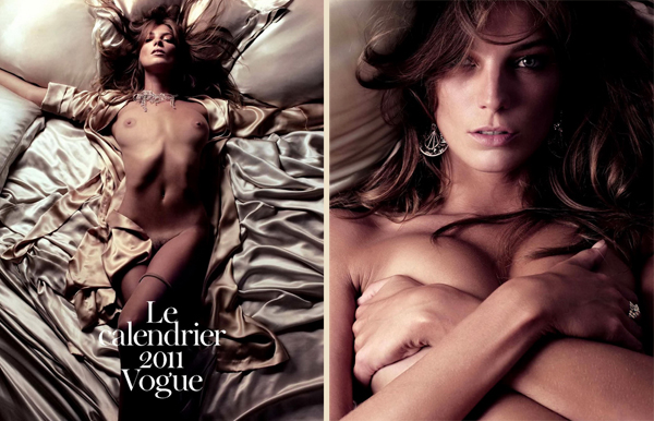 Дарья Вербови в календаре Vogue Paris 2011