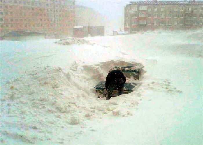 Настоящая зима,это когда снега много!