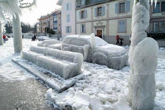 Последствия зимнего шторма (25 фото)