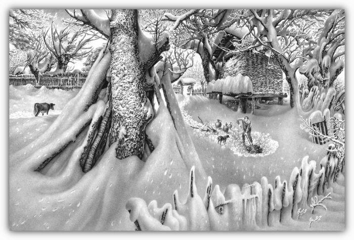 Красивые зимние рисунки