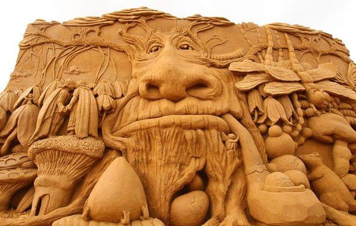 Выставка песчаных скульптур в Мельбурне (18 фото)