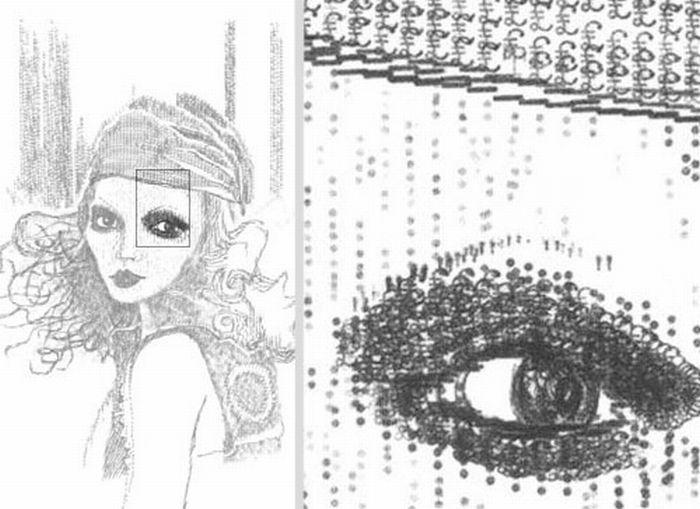 Рисунки на печатной машинке (16 фото)