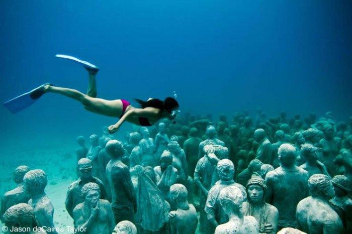 Музей подводных скульптур в Мексике (26 фото)