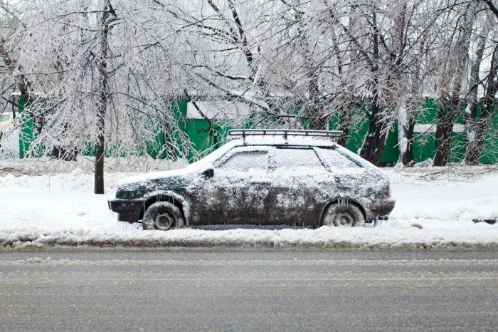 Улицы Москвы превратились в каток
