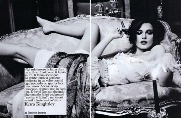 Кира Найтли в Vogue Italia