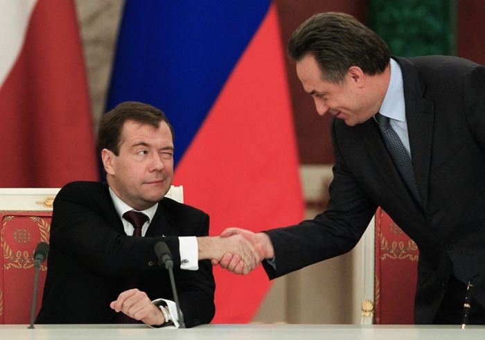 Богатая мимика Дмитрия Медведева