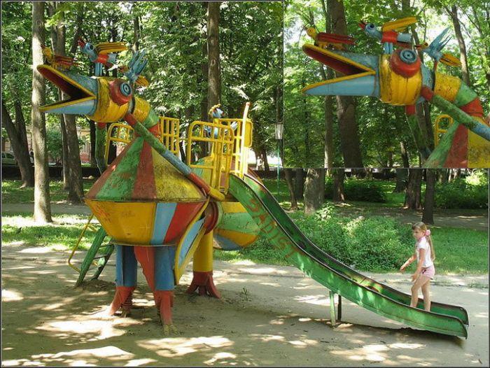 Украинская детская площадка в Хмельницком (13 фото)