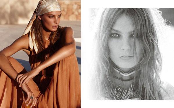 Дарья Вербови в рекламных кампаниях весны 2011