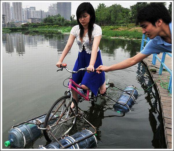 Как сделать плавающий велосипед