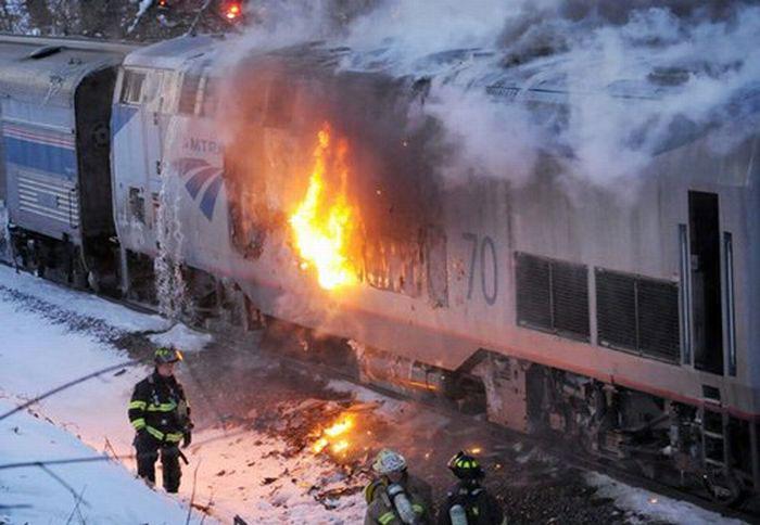 Загорелся двигатель поезда