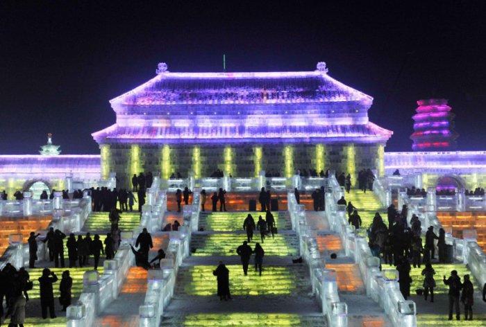 Парк льда и снега в Китае