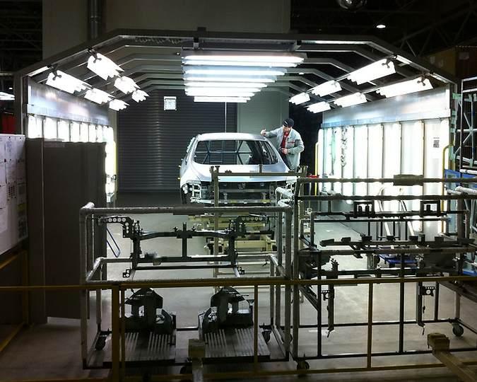 Завод по сборке машин Nissan под Санкт-Петербургом