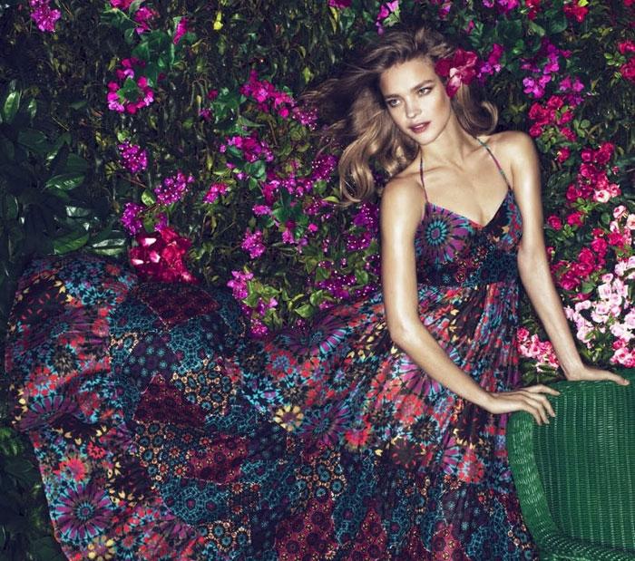 Наталья Водянова в цветах