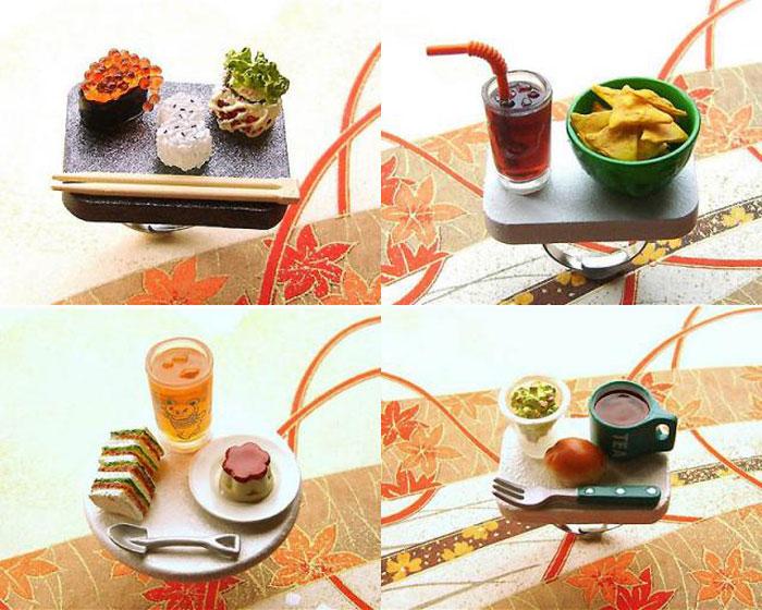 Оригинальные кольца с миниатюрными блюдами