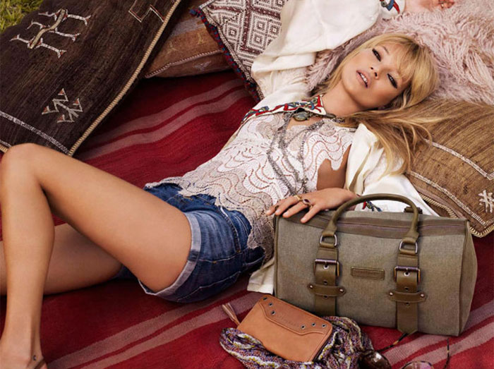 Кейт Мосс в рекламе весенней коллекции сумок Longchamp