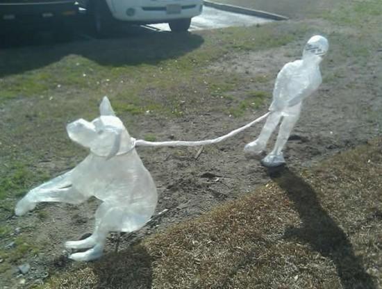 Скульптуры из скотча (9 фото)