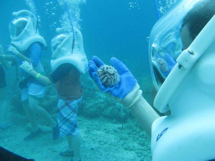 Погружение в водолазном шлеме