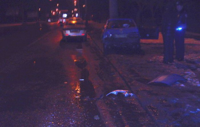 ДПС перекрыли дорогу (5 фото)