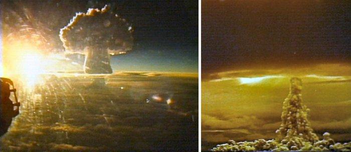 Фотографии ядерных взрывов