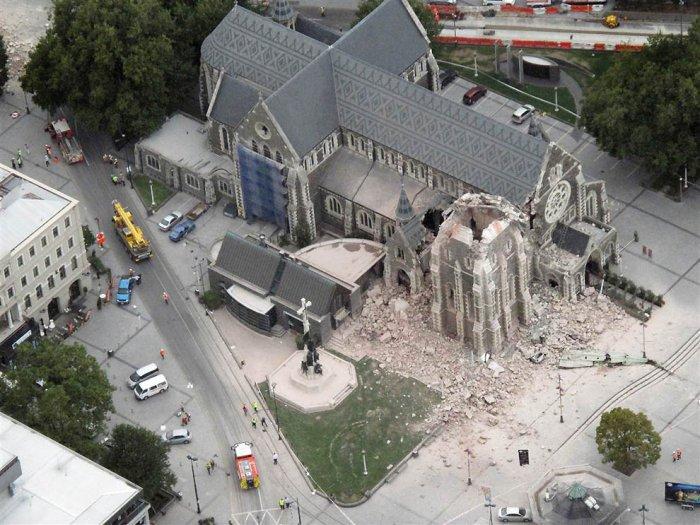 Сильное землетрясение в Новой Зеландии