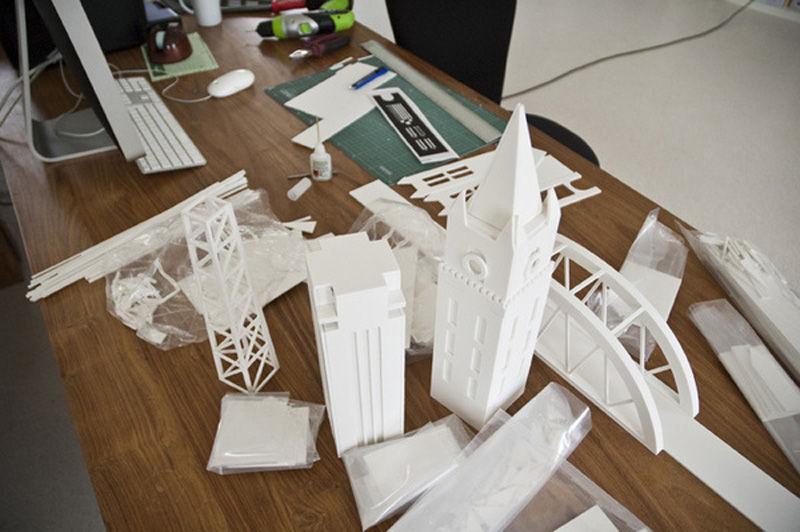 Макет города будущего из бумаги