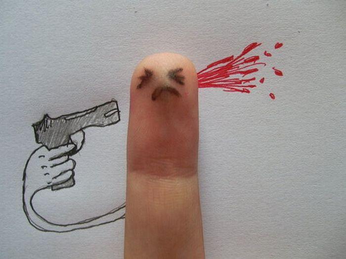 Сломанный палец смешная картинка, днем рождения женщине