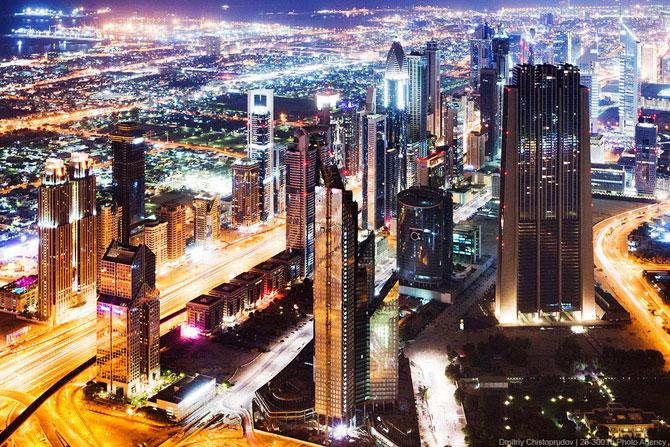 Ночные виды с самого высокого здания в мире, Бурдж-Халифа