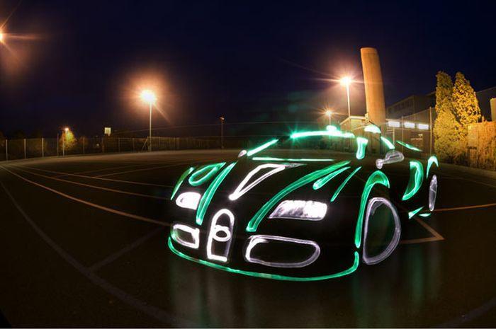 Нарисованные автомобили в стиле граффити (19 фотографий)