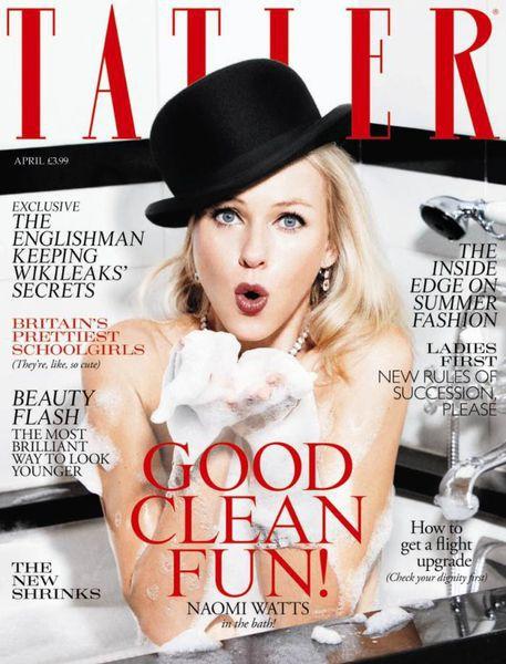 Наоми Уоттс в журнале Tatler. UK. Апрель 2011 ( 4 фото)