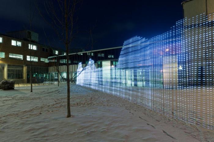 Потрясающее световое граффити