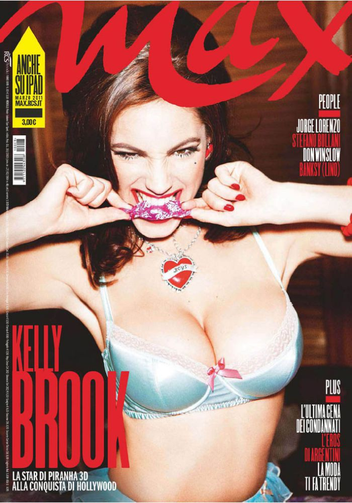 Kelly Brook ( Келли Брук) в журнале Max ( 5 фото)