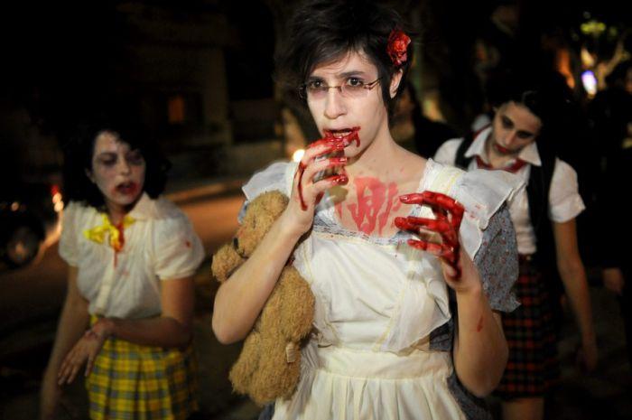 Парад зомби в Тель-Авиве (6 фото)
