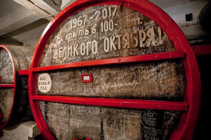 В винных хранилищах Еревана