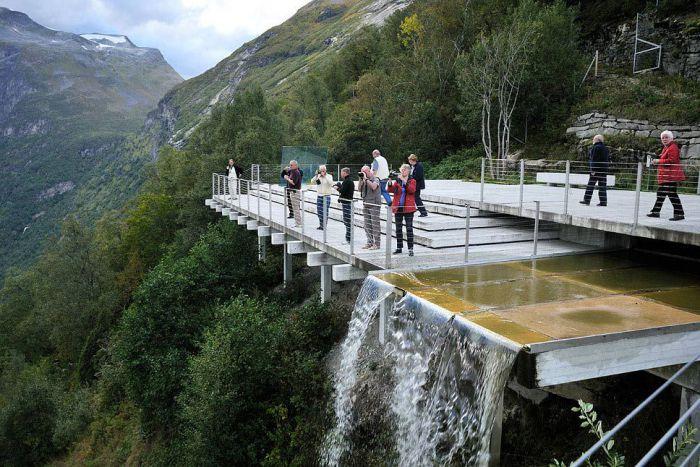 Архитектурные туристические структуры в Норвегии