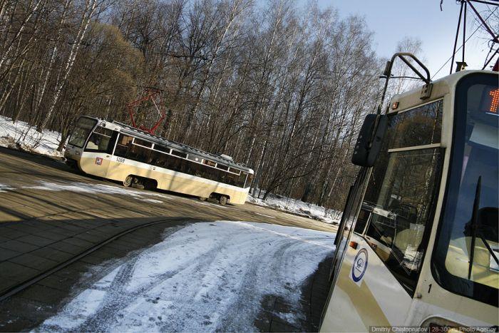 Мини-трамвай в Москве