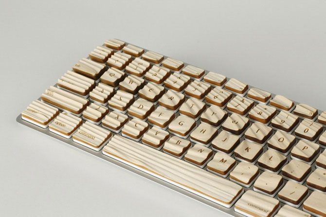 Деревянная клавиатура (8 фото)